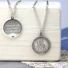 round necklace pendant images St christopher chunky round necklace by hersey silversmiths jpg