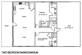 floor plans 2 bedroom 30 barndominium floor plans for different purpose