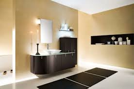 Bathroom Cabinet Paint Color Ideas Blue Round Sink Stainless Swam Faucet Small Beige Floating