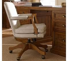 pottery barn desk chair brock upholstered swivel desk chair pottery barn