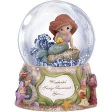 precious moments wonderful things surround you musical snow globe