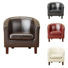 Tub Armchair Luxury Bonded Leather Tub Chair Armchair For Dining Living Room