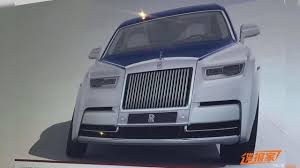 roll royce chinese chinese website leaks images of 2018 rolls royce phantom sans