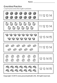 kindergarten number worksheets printable counting practice math