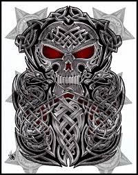 Celtic Skull - celtic skull half sleeve by shepush on deviantart