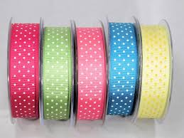 grosgrain ribbons dot grosgrain ribbon many colors printed both sides of