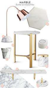 home accessories decor trend marble home accessories sarah hearts