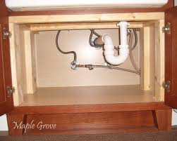 How To Install Cabinets In Kitchen Maple Grove How To Build A Support Structure For A Farm House Sink