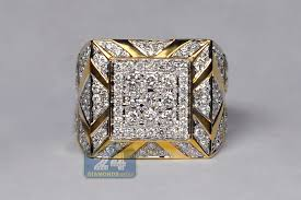 mens gold diamond rings mens gold diamond rings mens diamond square signet ring