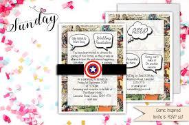 vintage marvel dc comic book wedding invitation set sample