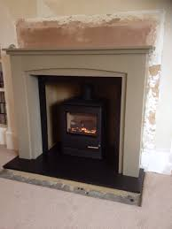 painted wooden fire surrounds round designs