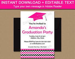 printable graduation invitation template black red high