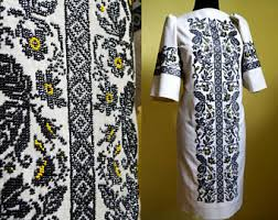 designer dress ukrainian embroidery modern embroidery bead