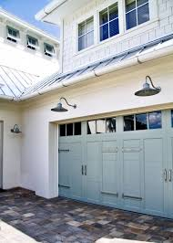 Outdoor Gooseneck Barn Lights Outdoor Lighting Garage Doors Coastal Cottage And Doors