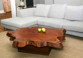 Cherry Wood Coffee Table Slab Coffee Table In Beautiful Decoration