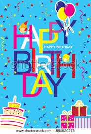 creative modern birthday greeting card cool stock vector 558920275