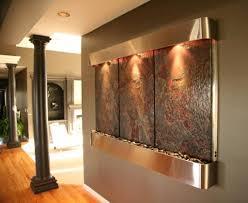 small indoor water wall fountain with horizontal design indoor