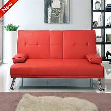 Leather Sofa Bed Popamazing Modern Faux Leather 3 Seater Sofa Bed With Fold Down