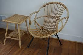 banquette rotin vintage fauteuil adulte rotin vintage goldies