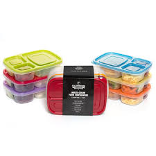 california home goods 3 compartment reusable food storage