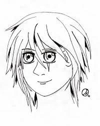 first manga head drawing by dantevian on deviantart