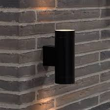 outdoor double wall light nordlux tin maxi double outdoor wall light black