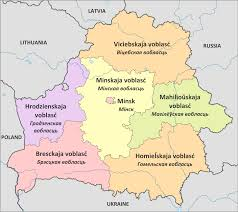 minsk russia maps regions of belarus