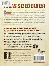 amazon com guitar licks of the texas blues rock heroes book cd