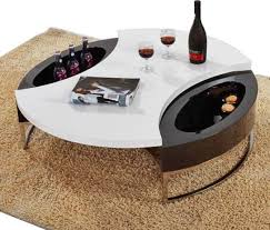 coffee table modern black and white round top with pertaining to