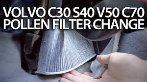 how to change pollen filter volvo c30 s40 v50 c70 cabin air