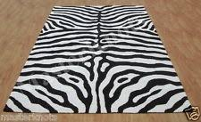 Black And White Zebra Area Rug Animal Print Contemporary Area Rugs Ebay