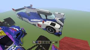 minecraft car design 170 blocks long formula 1 cars creative mode minecraft java