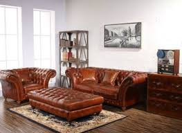 Leather Chesterfield Style Sofa Shabby Chic Corner Chesterfield Style Sofa In Merthyr Tydfil