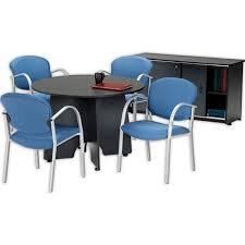 Conference Table With Chairs Round Conference Table Credenza U0026 Four Danbelle Chairs Ofm