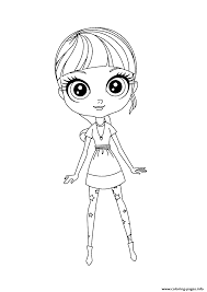 littlest pet shop blythe cute coloring pages printable