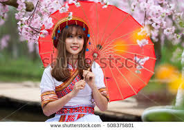 young beautiful women big traditional colourful stock photo