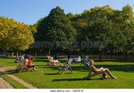 hyde park sunbathing stock photos hyde park