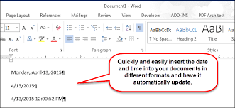 Which Date Is How To Easily Insert The Formatted Date And Time In Microsoft Word