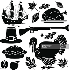 pilgrim thanksgiving icons vector getty images