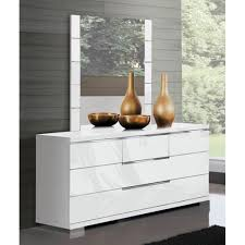 commode chambre blanc laqué commode glossy blanc 6 tiroirs achat vente commode pas cher