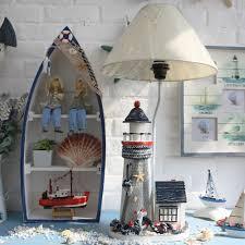 Schlafzimmer Lampe Holz Mediterranen Stil Haus Leuchtturm Lampe Holz Tischlampe