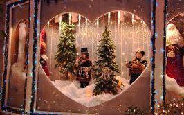 Christmas Village Window Decorations by Christmas Village Displays In Bay Window U2013 Happy Holidays
