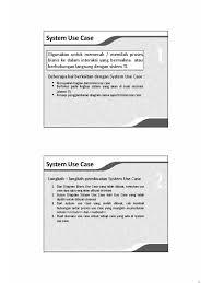 membuat use case skenario perancangan 3 system use case