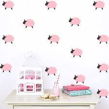 stickers mouton chambre bébé enfants salle de moutons de bande dessinée enfants stickers muraux