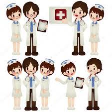 Doctor And Nurse Doctor And Nurse In Various Pose U2014 Stock Vector Anpannan 28384625