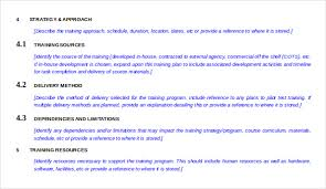 13 training strategy templates u2013 free sample example format
