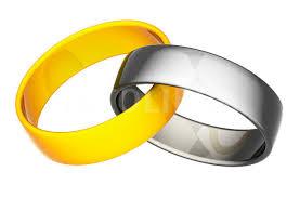 interlocked wedding rings interlocked gold silver wedding rings