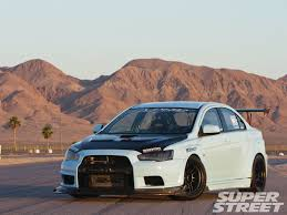 mitsubishi blue 2008 mitsubishi lancer evolution x super street magazine