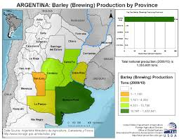 Usda Map Argentina Crop Production Maps By Province