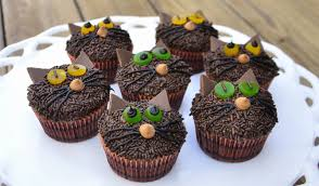Cup Cakes Halloween by Just Jenny Lynne Halloween Kitty Cat Cupcakes